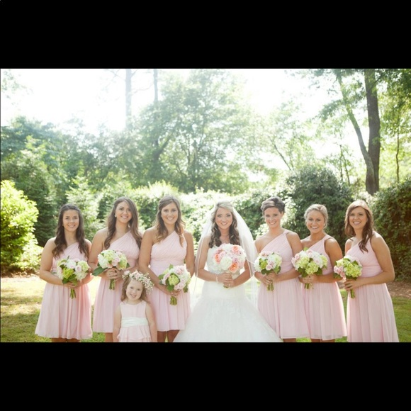 Weddington Way Dresses & Skirts - Pink chiffon bridesmaid dress
